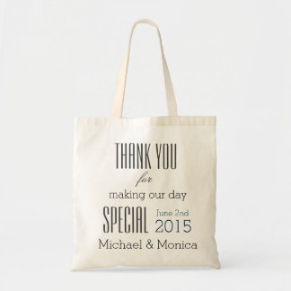 Thank You Custom Wedding Hotel Gift Tote Bag