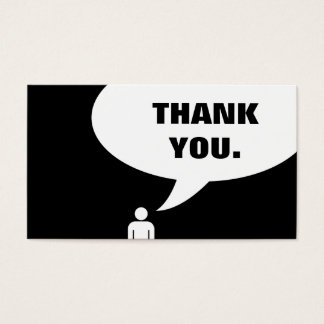 thank you. (customer loyalty) business card