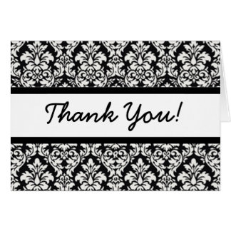 Thank You (customize font & color) Note Card