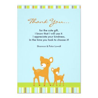 Thank You Cute AnimalsFlat Card Personalized Announcements