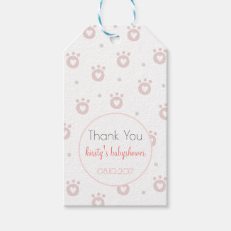 Thank You | Cute Pet Paws Babyshower Gift Tags