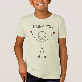 THANK YOU Cute Stick Figure Love Gratitude T-Shirt