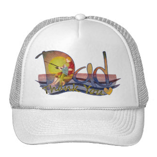 Thank you dad artistic dad & son fishing hats