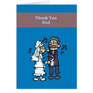Thank You Dad Wedding Card