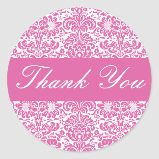 Thank You Damask Envelope Sticker Seal