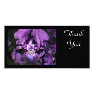 Thank You-Deep Purple Iris Personalized Photo Card
