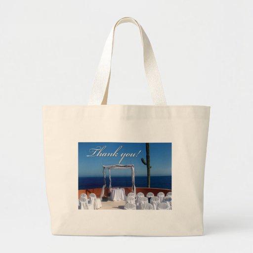 Thank you destination wedding design tote bags