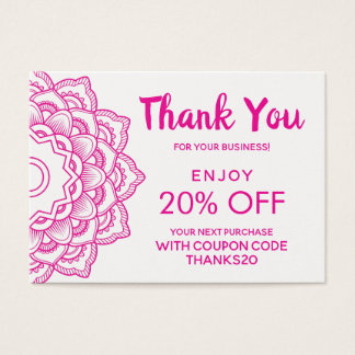 Thank You Discount Business Card