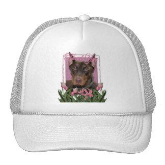 Thank You - Doberman - Red - Rocky Trucker Hat