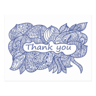 Thank you doodle post cards