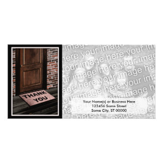 thank you door mat customized photo card