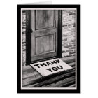 thank you door mat photograph card
