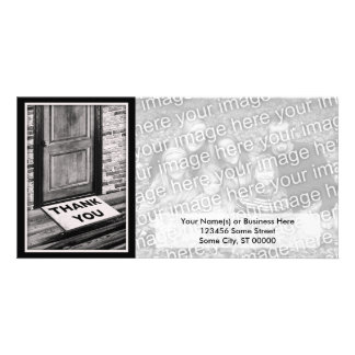 thank you door mat photograph custom photo card
