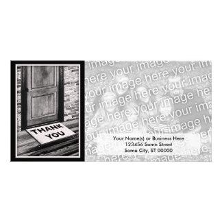 thank you door mat photograph custom photo card