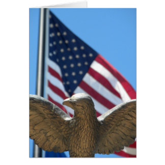 Thank You: Eagle & Flag Card