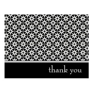 thank you : elegant floral : postcard