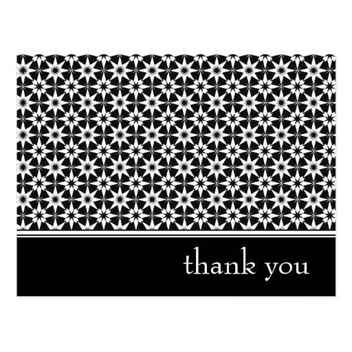 thank you : elegant floral : post card