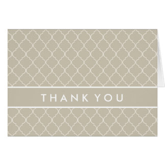 Thank You | Elegant Trefoil Card