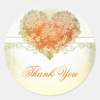 thank you elegant vintage heart stickers