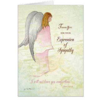 Thank You Expression of Sympathy, Angel Card