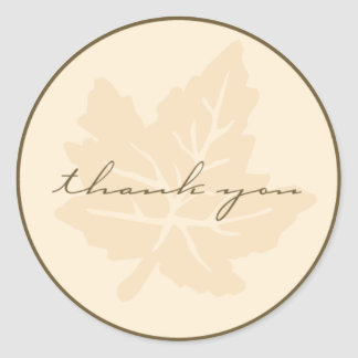 Thank You Fall Collection Classic Round Sticker