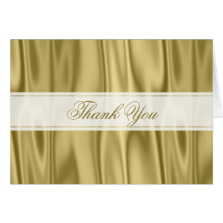 Thank You:   Faux Gold Satin Fabric Texture Card