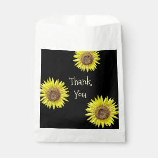 Thank you Favor Bags Sunflower Themed Party