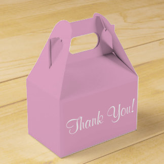 """Thank You"" Favor Box"