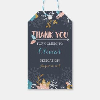 Thank You Favor Tag, Dedication, Baptism Gift Tags