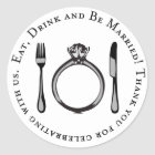 Thank You Favour Sticker | Eat, Drink & Be Married