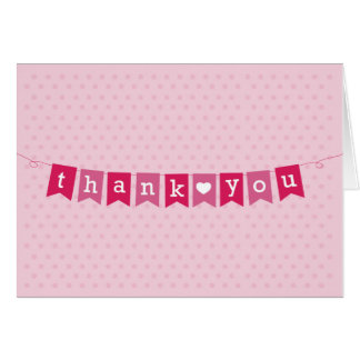 Thank You Flags Pink Card