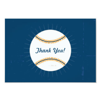 Thank You Flat Note Cards | Baseball Theme 9 Cm X 13 Cm Invitation Card