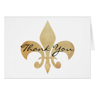 Thank You Fleur de Lis Greeting Card