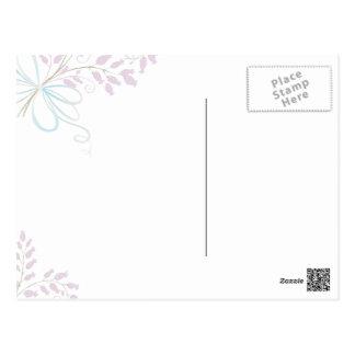 Thank You Floral Bouquet heart Postcard