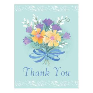Thank You Floral Bouquet Postcard