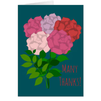 Thank You Flower Bouquet - Greeting Card