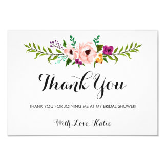 Thank You - Flower Crown II Card