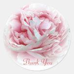 Thank You Flower Envelope Seals Round Stickers