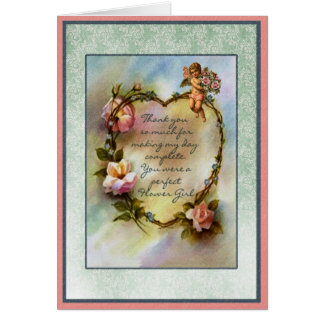 Thank You Flower Girl Bridal Party Card