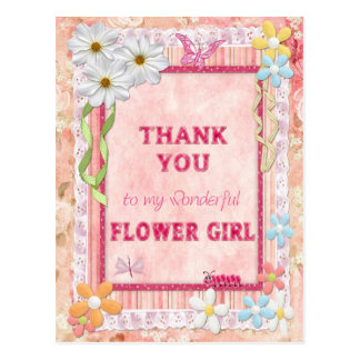Thank you Flower Girl, flowers craft card