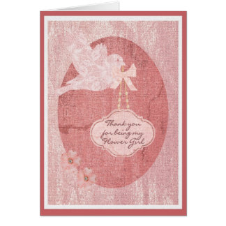 Thank you Flower Girl Wedding Party Card