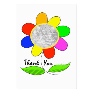 Thank you flower photo business card templates