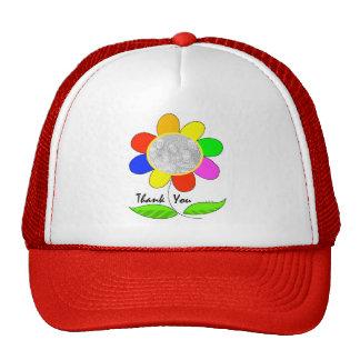 Thank you flower photo cap