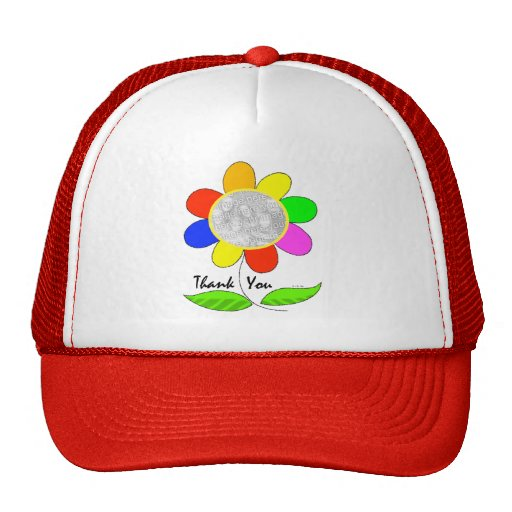Thank you flower photo hats