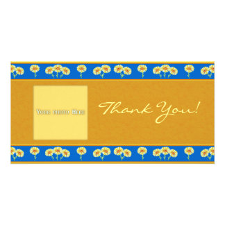 Thank You Flowers 2 Photo Card Template