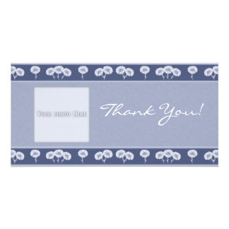 Thank You Flowers 3 Photo Card Template