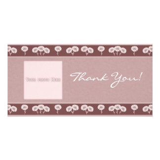 Thank You Flowers 4 Photo Card Template