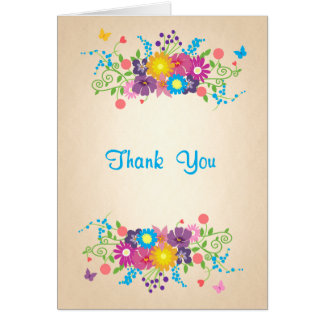 Thank You Flowers and Butterflies Card