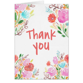 Thank You flowers Card