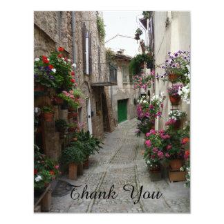 Thank You Flowers Italian Sidestreet Notecard